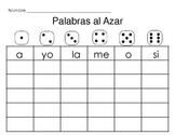 Spanish Roll a Sight Word/ Palabras (de alta frecuencia) al Azar