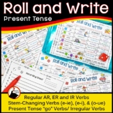 Spanish Present Tense Review Activities Roll and Write