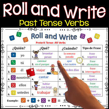 Spanish Preterite Verb Tense Review Activities Roll and Write