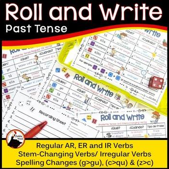 Spanish Roll and Write Preterit (Past) Tense Verb Activities
