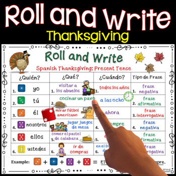 Spanish Thanksgiving: Verb Activity Boards (Present, Past