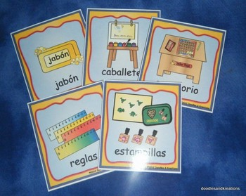 Spanish Room Label Cards