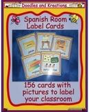 Spanish Room Label Cards