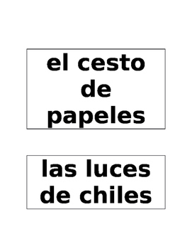 Spanish Room Labels