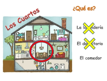 spanish rooms in the house powerpoint activities by world language classroom. Black Bedroom Furniture Sets. Home Design Ideas