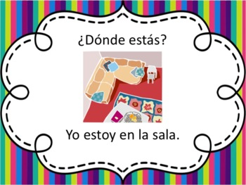 Spanish Rooms of the House with Estar Powerpoint