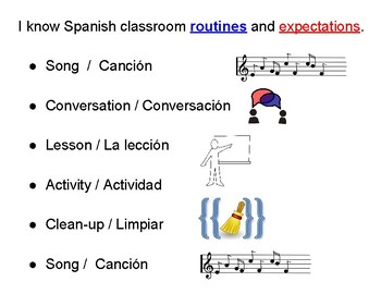 Spanish Routines (with translation)