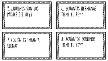 Spanish Royal Family Task Cards
