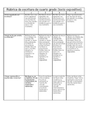 Spanish Rubric Expository Text