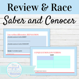 Spanish SABER and CONOCER Guided Notes and Word Race Activity