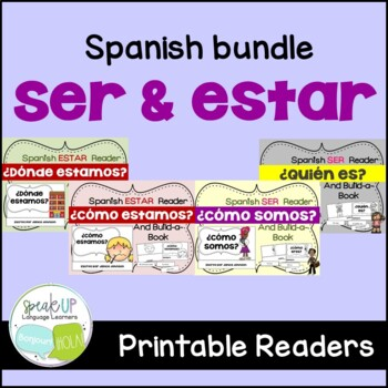 Spanish SER & ESTAR Readers & Build-a-Books {Bundled set of 4}