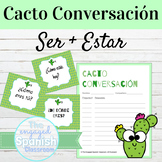 Spanish SER and ESTAR Cacto Conversación Speaking Activity