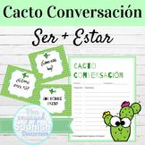 Spanish SER and ESTAR Cacto Conversación Speaking Activity