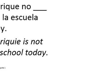 Spanish SER v ESTAR Substitute Lesson