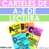 Spanish Reading Alphabet Posters for Grades 3-5! With Reading Skills!