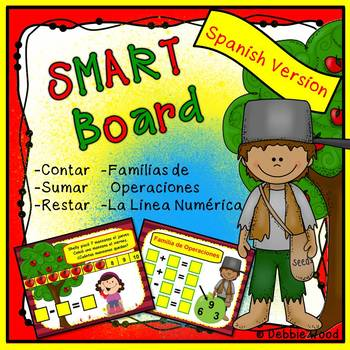 Spanish SMARTboard Math with Apples (Back to School)