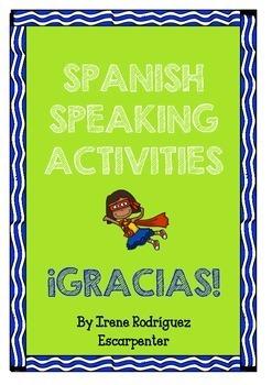 Spanish SPEAKING activities.