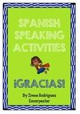 Spanish SPEAKING activities - Actividades orales en Español