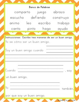 Bilingual Spanish/English Mini-Book and Writing Prompts - SSL, ESL