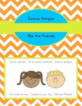 Bilingual Spanish/English Mini-Book and Writing Prompts - SSL, ESL