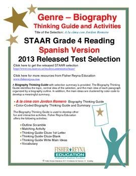 Spanish STAAR Analysis & Activities: A la cima con Jordon