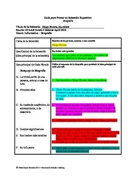 Spanish STAAR Analysis & Activities: Diego Rivera, muralista, Grade 4