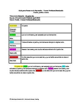 Spanish STAAR Analysis & Activities: El patito feo, Grade 3