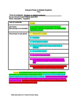 Spanish STAAR Analysis & Activities: El pulpo: un misterio submarino, Grade 5