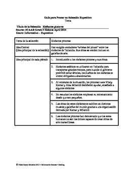 Spanish STAAR Analysis & Activities: Elefantes pintores, Grade 4