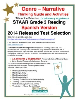 Spanish STAAR Analysis & Activities: La princesa y el garbanzo, Grade 3