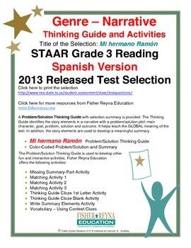 Spanish STAAR Analysis & Activities: Mi hermano Ramón, Grade 3
