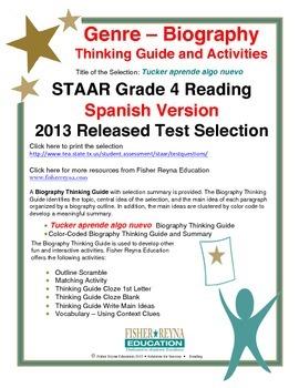 Spanish STAAR Analysis & Activities: Tucker aprende algo nuevo, Grade 4