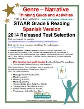 Spanish STAAR Analysis & Activities: Una cuchara para cada