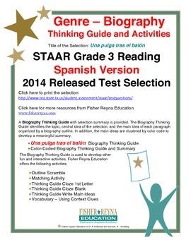 Spanish STAAR Analysis & Activities: Una pulga tras el balón, Grade 3