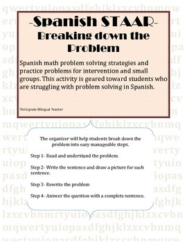 Spanish STAAR Problem Solving Activity