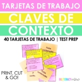 Spanish STAAR Reading Context Clues 40 Task Cards!!