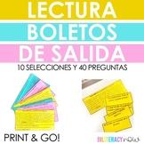 Spanish Reading Mini Passages 10 passages 40 Questions Test Prep
