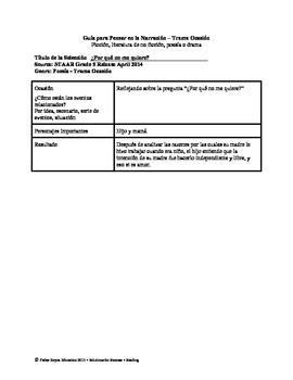 Spanish STAAR Analysis & Activities: ¿Por qué no me quiere?, Grade 5