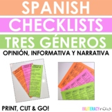 Spanish STAAR Writing Checklists for Narrative, Informatio