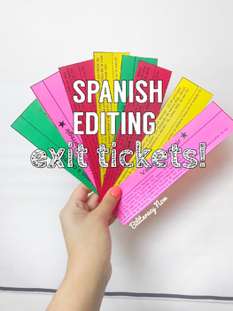 Spanish STAAR Writing Editing Exit Tickets, Flash Cards with 30 Questions!