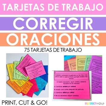 Spanish STAAR Writing EDITING Task Cards - WOW! 75 Task Cards!