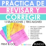 Spanish Revising & Editing Test Prep BUNDLE - 12 Selections for Spanish STAAR