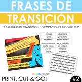 Transition Words or Phrases Aligned to Spanish STAAR Writing #2