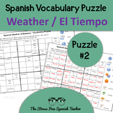 Spanish Weather & Seasons (Tiempo, Clima, Estaciones) Vocabulary Puzzle