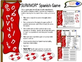 "Spanish ""SURVIVOR"" Vocabulary & Grammar Game! (Customizable!)"