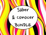 Spanish Saber & Conocer BUNDLE- PowerPoint, Worksheets Pack, Keynote