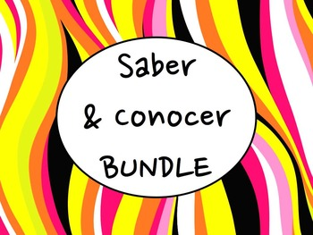 Spanish Saber & Conocer BUNDLE- PowerPoint, Worksheets Pac
