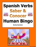 Spanish Saber and Conocer Human Bingo Game Speaking Activity