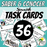 Spanish Saber and Conocer Task Cards