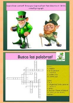 Spanish Saint Patrick's day, dia de San Patricio freebie